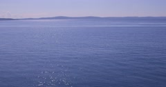4K Blue Adriatic sea Stock Footage