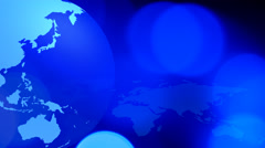 Social media internet world blue background - stock footage