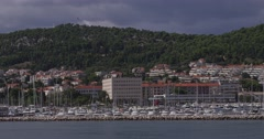 4K Arrival to Split by boat Stock Footage