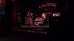 4k liverpool cavern club stage Stock Footage