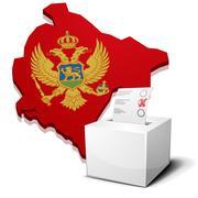 Stock Illustration of ballotbox montenegro