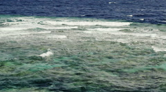 Waves rolling on coral reef in Red Sea Stock Footage