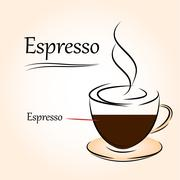 coffee icon, espresso - stock illustration