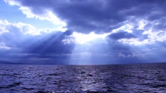 Sea View And Winter Clouds - stock footage