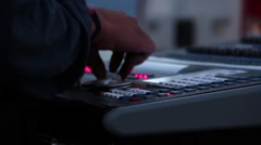 The Light DJ Is Tuning Up The Mixer Stock Footage