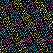 Love till die typographic quote pattern Stock Illustration