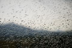 Waterdrops on a window Stock Photos