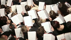 The choir sings at a concert Stock Footage