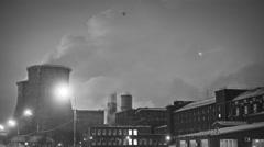 Factory polluted the air. time lapse Stock Footage