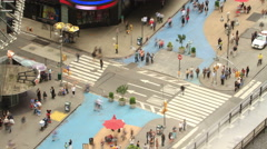 Time lapse of city traffic and pedestrians,  New York Stock Footage