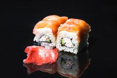 Japanese food - sushi and sashimi Stock Photos