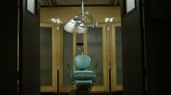 Teal chair Stock Footage
