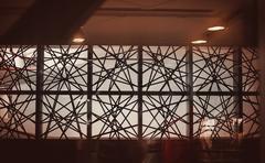 creative islamic decoraion elements in interior - stock photo