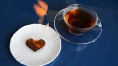 Burning Chocolate Heart Stock Footage