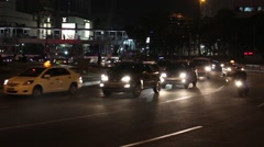Round About Traffic at Night 1 Stock Footage
