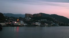 Nagasaki Coastline at sunset Japan Stock Footage