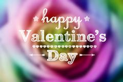 Valentine colorful rose Stock Illustration