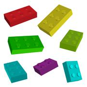 construct toys - stock illustration