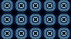 Blue VJ Visuals with Psychedelic Patterns - stock footage