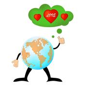 love peace romance, love heart, finding love solution - stock illustration
