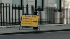 London 2012 Olympic prohibitive sign Stock Footage