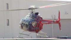 Careflite Medical Helicopter Landing Stock Footage