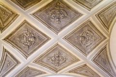 Renaissance ceiling in an old house Stock Photos