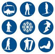 Winter sports designs Stock Illustration