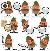 Detective Pack Stock Illustration