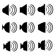 speaker volume icon - stock illustration