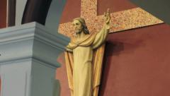 Tilt up of Jesus On the Cross Stock Footage