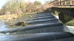 Saw tooth wier 03 - stock footage