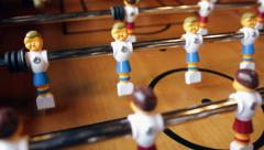 Foosball Table Dolly Stock Footage