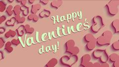 Valentines Day card animated with retro colors. Stock Footage
