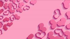 Valentines Day background with sticky in heart shape. Stock Footage