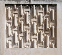 Chain link stone carving Stock Photos