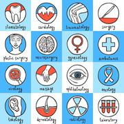 Medical Icon Set - stock illustration
