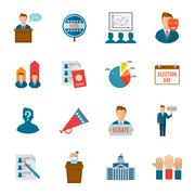 Election Icon Flat - stock illustration