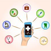 medical online consultation service - stock illustration