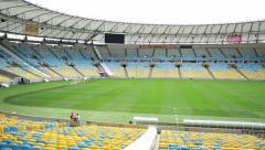 The famous Maracana Stadium in Rio de Janeiro Stock Footage