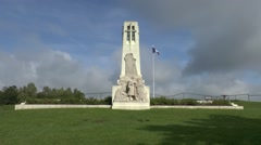 Monument to the fighers & dead of Vauquois, Butte de Vauquois, Meuse, France. Stock Footage