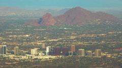 Aerial of Phoenix, Arizona USA Stock Footage