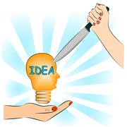 Stealing idea, business concept Stock Illustration