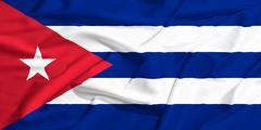 Stock Illustration of cuba flag on a silk drape waving