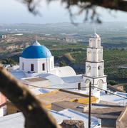Santorini, pyrgos, theotokaki church Stock Photos