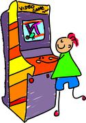 Stock Illustration of Arcade Boy