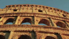 Tilting on Colosseum in Rome Stock Footage