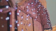 Christmas illuminations on the house - stock footage