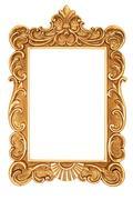 Golden antique frame Stock Photos