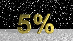Elegant Golden 5% on Snow During Holiday Season - stock footage